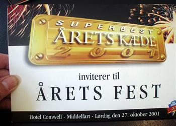 Syngende invitation med superbest sang/SINGING INVITATIONS